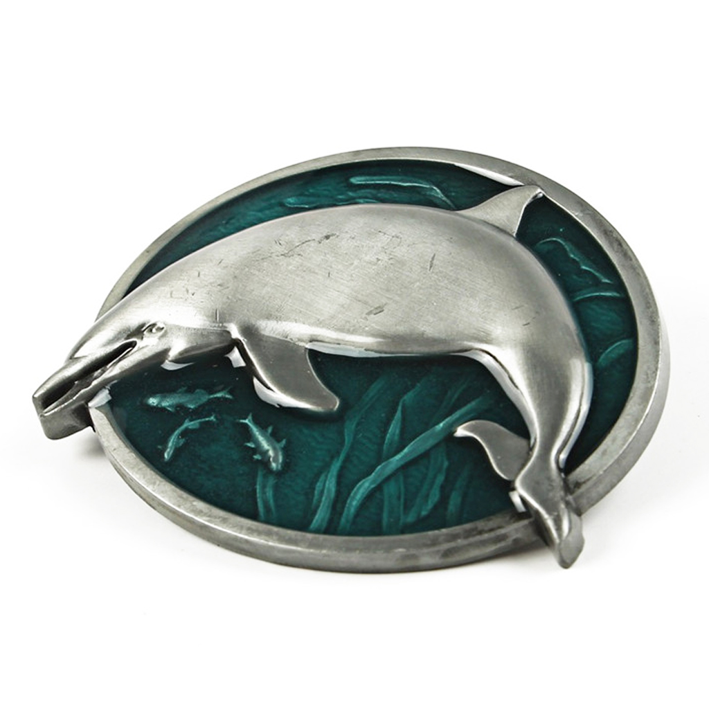 Men Belt Buckles 3D Punk Clothing Accessories (dolphin Pattern)