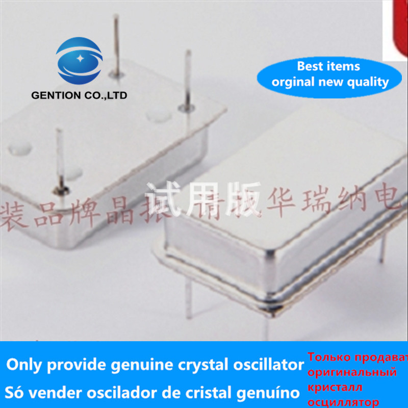 5pcs 100% Orginal New In-line Active Crystal Oscillator OSC DIP-4 Rectangular Clock Oscillator 14.318mhz 14.318M Full Size