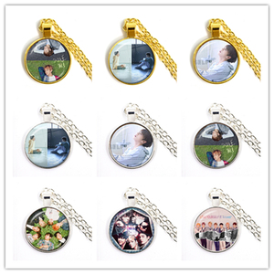 Hot Army Bomb 25mm Glass Cabochon Pendant Necklace Kpop BT21 Jewelry K-pop Boys Accessories For Fans Album Love Yourself Gift(China)