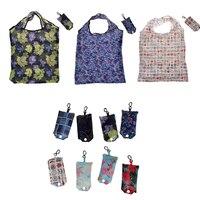 Faltbare Umweltfreundliche Einkaufstasche Mode Druck Tote Folding Beutel Handtaschen Bequem Große-kapazität für Reise Grocery Tasche