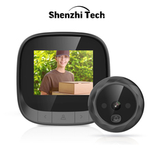 Digital Door Viewer 2.4 inch LCD Screen Support 90 Degree Wide Angle IR Night Door Peephole Camera Photo Recording Smart Viewer saful 4 3 lcd screen digital peephole camera 3000mah 120 degree door camera video recording motion detect door peephole viewer