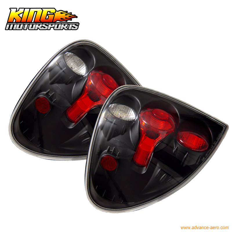 Fit For 2001-2003 Dodge Caravan Tail Lights Black Lamps Pairs USA Domestic Free Shipping