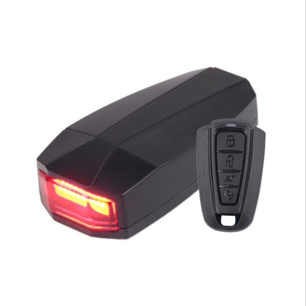 USB Anti-Theft Alarm Rear Tail Bike Light Lamp Taillight Waterproof Bright LED Cycling Bicycle Safety Rear Light