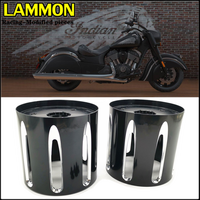 For Indian Chief Dark Horse Vintage Roadmaster Bobber Scout Motorcycle Accessories Exhaust Decorative Cover CNC Aluminum Alloy