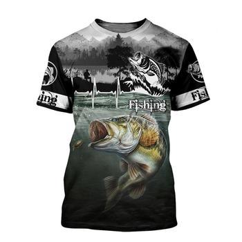 Blue bass lifeline fishing T shirt all over print