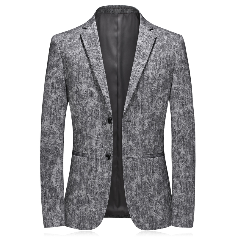 Good Quality Pattern Mens Blazers Slim Fit 2020 Spring New Single Breasted Mens Suits Blazers