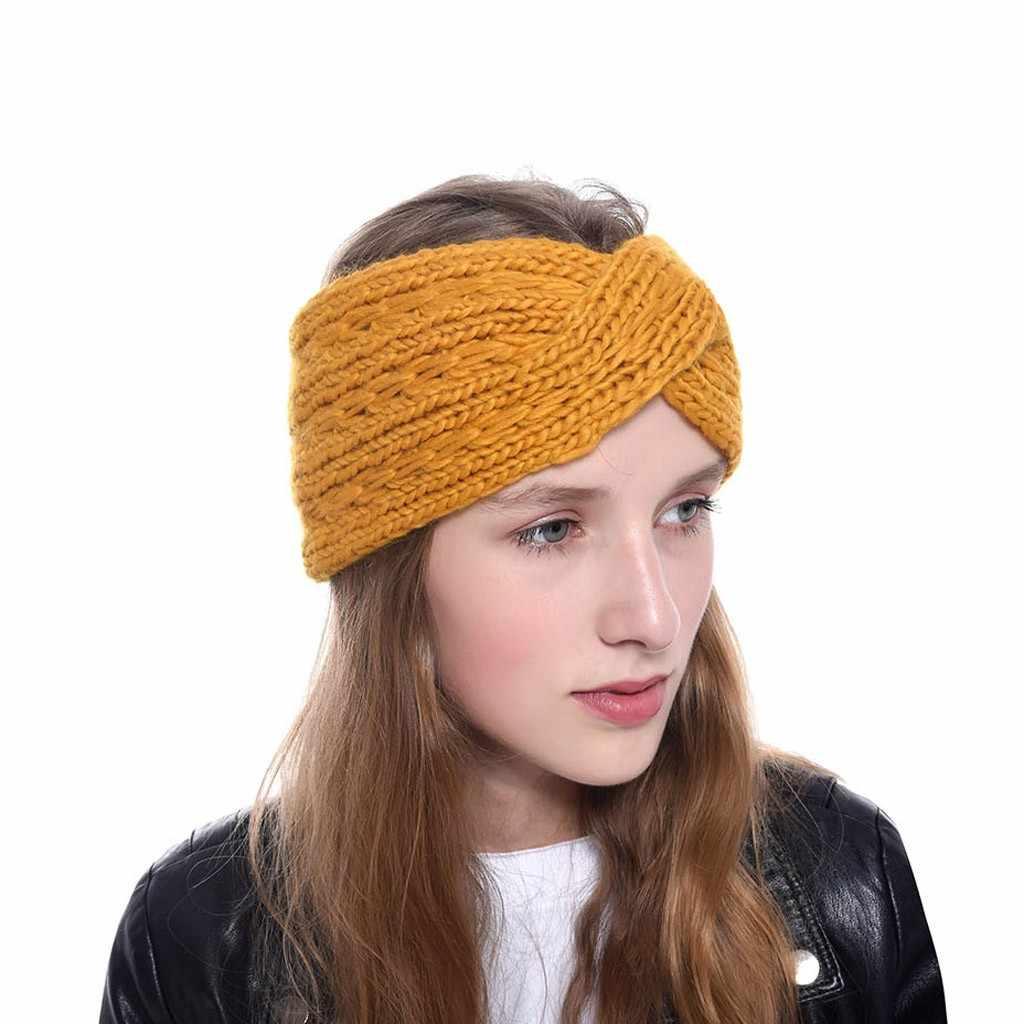 ใหม่ผู้หญิง Headbands ฤดูหนาว Braided Headband Ear Warmer หัวห่อผมอุปกรณ์เสริมแถบ Haar อุปกรณ์เสริม Turban