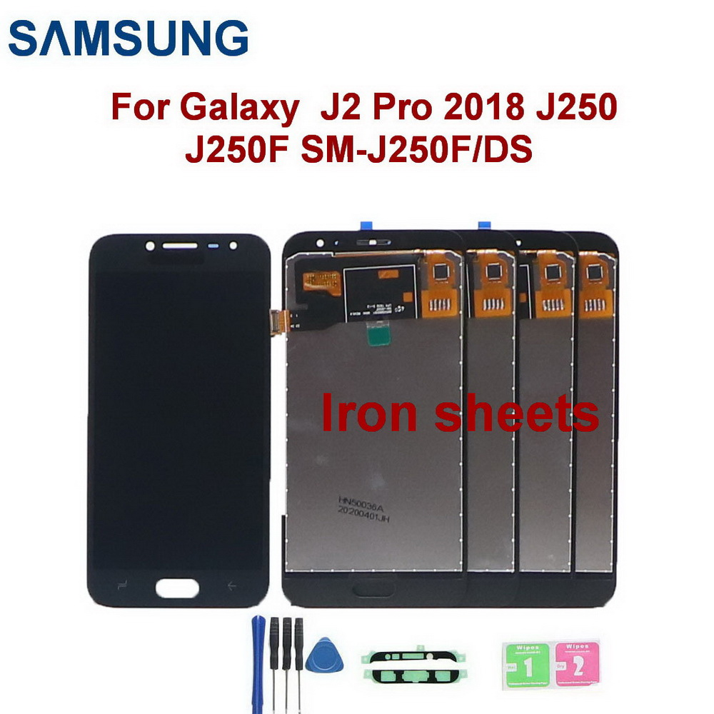 5 unid/lote J250 Iron sheets LCD For <font><b>Samsung</b></font> Galaxy <font><b>J2</b></font> Pro <font><b>2018</b></font> J250 J250F SM-J250F/DS Display Touch <font><b>Screen</b></font> Digitizer Assembly image