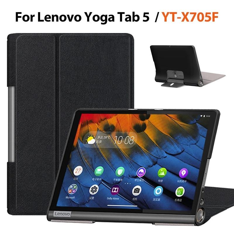 Tablet Case For Lenovo Yoga Tab5 YT-X705F 2019 Smart Tablet Cover For Lenovo Yoga Tab 5 PU Leather Protective Case Skin