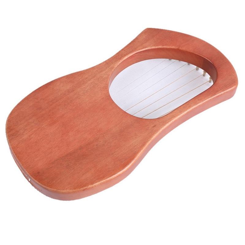Оркестровый музыкальный инструмент арфа семиструнный музыкальный инструмент Liqin с настроечный ключ