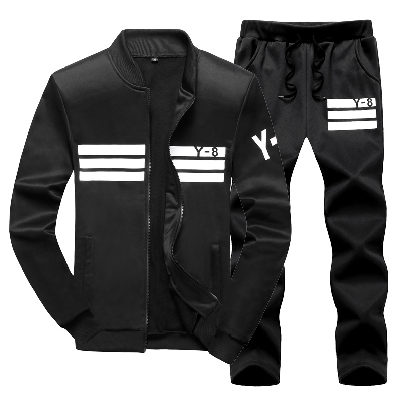 Spring AUtumn Men Set Fleece Sweatshirt + Pants Male Tracksuit Sporting Sweat Suits Mens Sportswear Big Size 6XL 8XL 9XL Sets