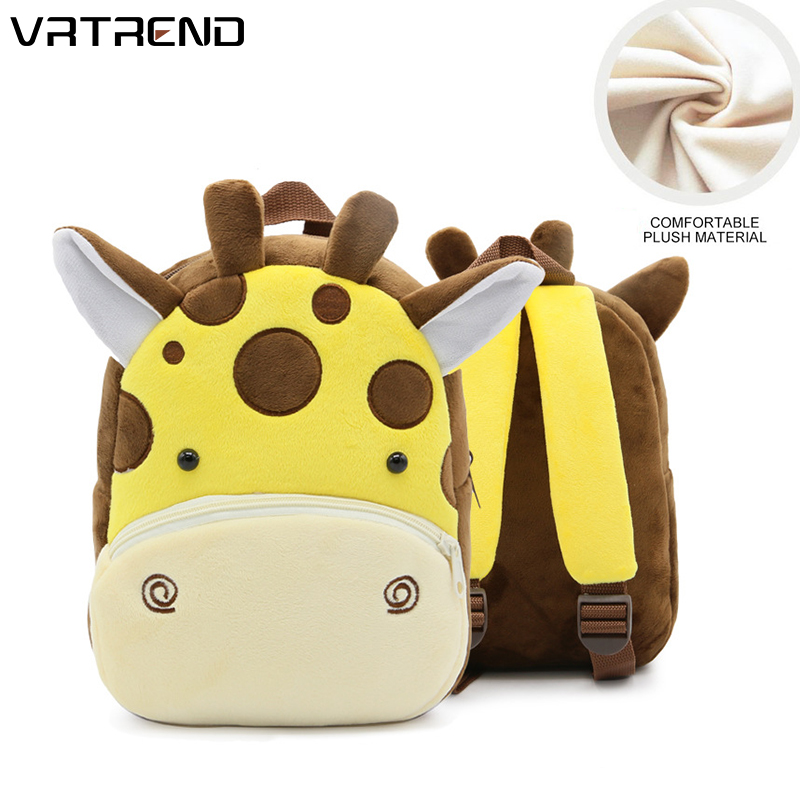 Cute Children Bag Backpack For Child Plush Backpack School Bags Cartoon animal pattern Kid Bag  Kindergarten Toddler Backpack air max 95 white just do