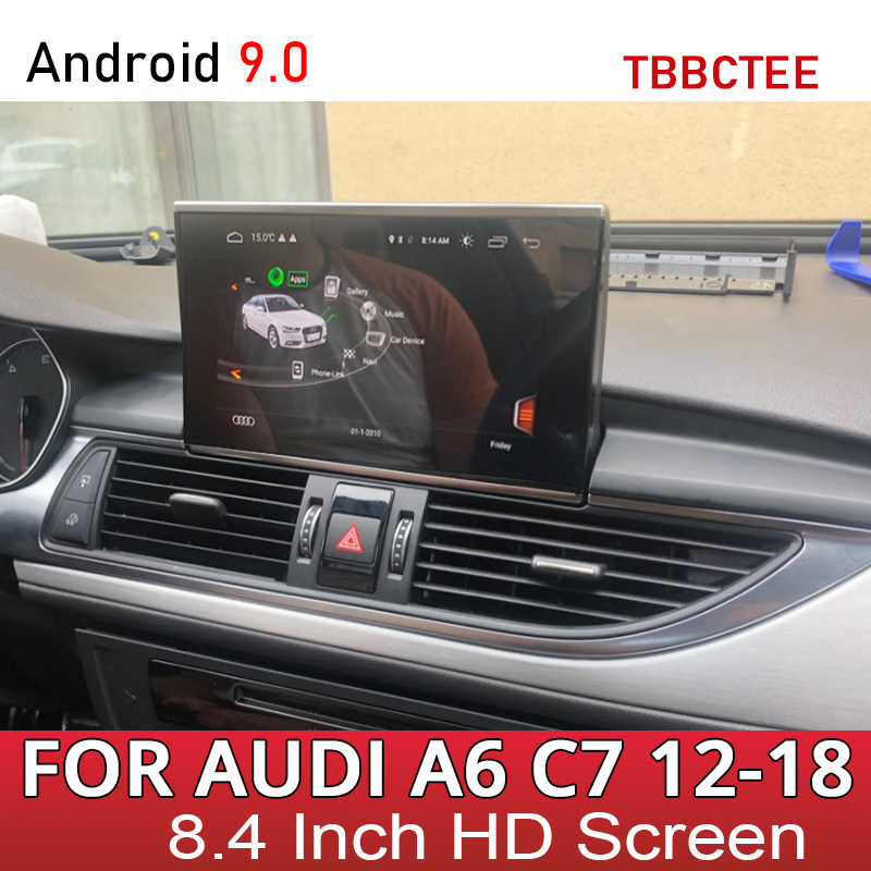 Car Multimedia Play For Audi A6 S6 C7 4G 2012~2016 2017 2018 MMI RMC 4G Android Auto Stereo Radio GPS Navigation Touch Screen