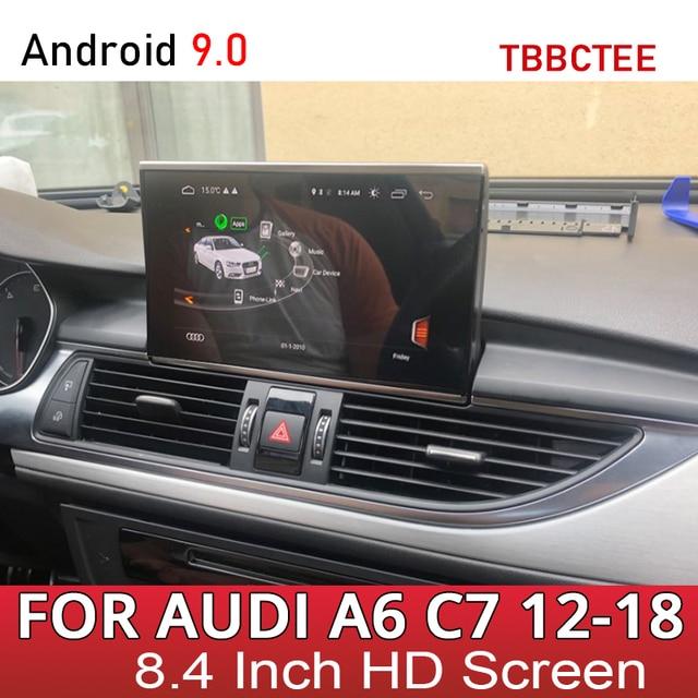 Kit multimídia automotivo para audi, audi a6, s6, c7, 4g, 2012 ~ 2016, 2017, 2018, mmi rmc, 4g, android rádio estéreo automotivo com navegação gps, tela sensível ao toque
