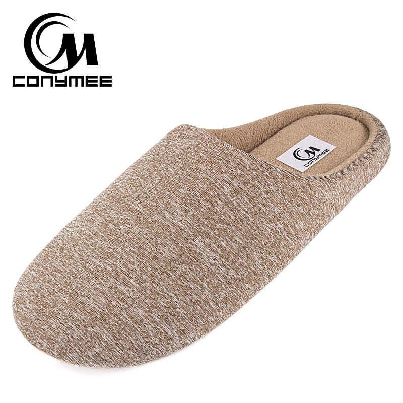 Winter Home Indoor Slippers Casual Shoes Men Soft Plush House Footwear Cotton Shoes Anti Skid Male Warm Bedroom Slippers Shoes