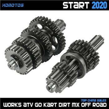 Caja de engranajes de transmisión LF125, conjunto de eje contador principal para lifan 125 1P52FMI 125cc motor Horizontal kayo BSE Dirt Pit Bike Parts