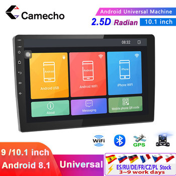 Camecho 10.1 Android 8.1 2 Din Car radio Multimedia Video Player Universal auto Stereo GPS For Volkswagen Nissan Hyundai Kia image