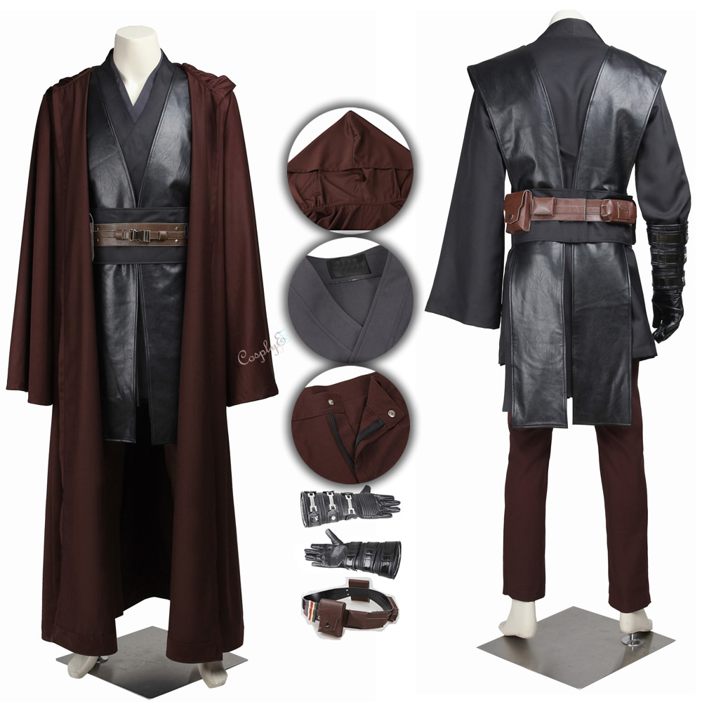 Star Wars Episode 3 Anakin Skywalker Costume Revenge of the Sith Cosplay Suits