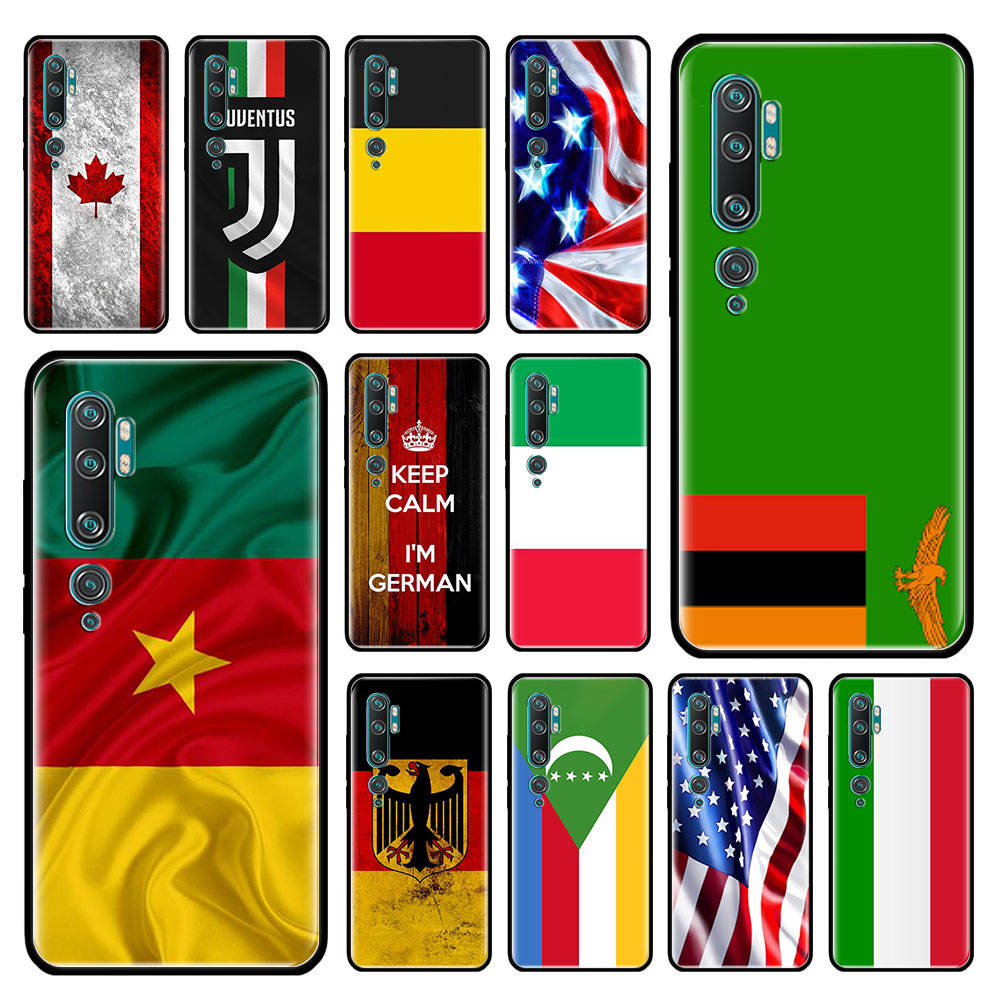 Egypt South Africa Nigeria Flag Case For Xiaomi Mi Note 10 9 CC9 9T Pro 5G CC9E 8 A3 A2 Lite X2 F1 Black Soft Bags Phone Cover