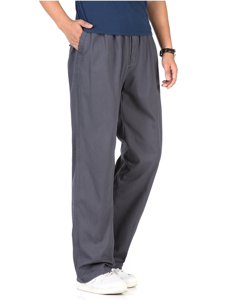 Joe Wenko Men Straight Leg Sweatpants Cotton Warm Elastic-Waist Athletic Pants
