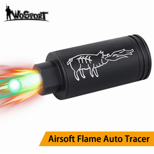 Paintball Airsoft Auto Flame Tracer Lighter with Flame Effect Fluorescence Tracer Unit For Pistol Handgun Airsoft Tracer Unit