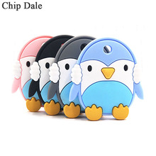 Chip Dale 1PC Silicone Penguin Teether Baby Teething Chew Toys Baby