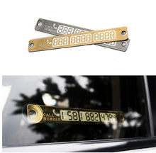 Carte de Parking temporaire, plaque de numéro de téléphone lumineux pour VW Passat B5 B6 CC Tiguan Golf 6 7 MK6 Polo Bora Jetta, accessoires