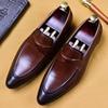 2019 Handmade Designer Slip On Formal Shoes Fashion Casual Office Wedding Oxford Shoes Genuine Leather Men Loafer Dress Shoes