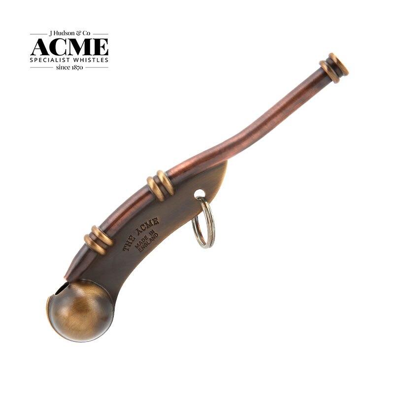 ACME Boatswain Pipe 12-Antique Brass British Original Sailor Whistle High Decibel Brass Sea Survival Equipment  Collection Gift