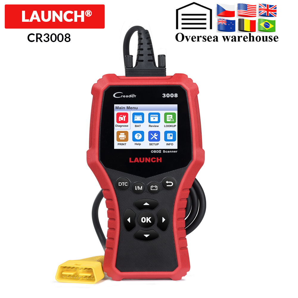 LAUNCH X431 CR3008 OBD2 Automotive Scanner OBD 2 OBDII Code Reader Diagnostic Tool free update pk Innrech Market.com