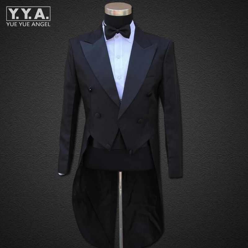 Fashion Mens Wedding Formele Pak Bruidegom Heren Kleding Tail Tuxedo Trouse Party Jassen Pak & Broek Show Kostuums Set mannen Pakken