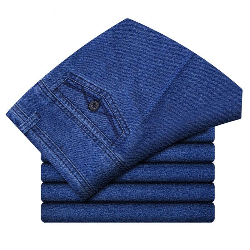 Stretch Men Business Jeans Classic Male Cheap Jeans Plus Size Baggy Straight Men Denim Pants Cotton Blue Biker Jeans Men