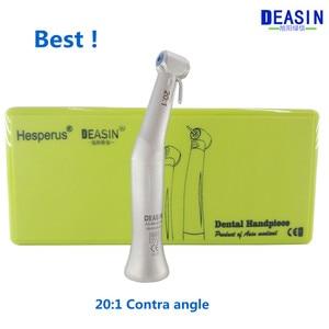 Image 1 - Лучший Deasin 20:1 Contra Angle Slow Speed наконечник для стоматологического имплантата микромотор Польский Инструмент Бесплатная доставка