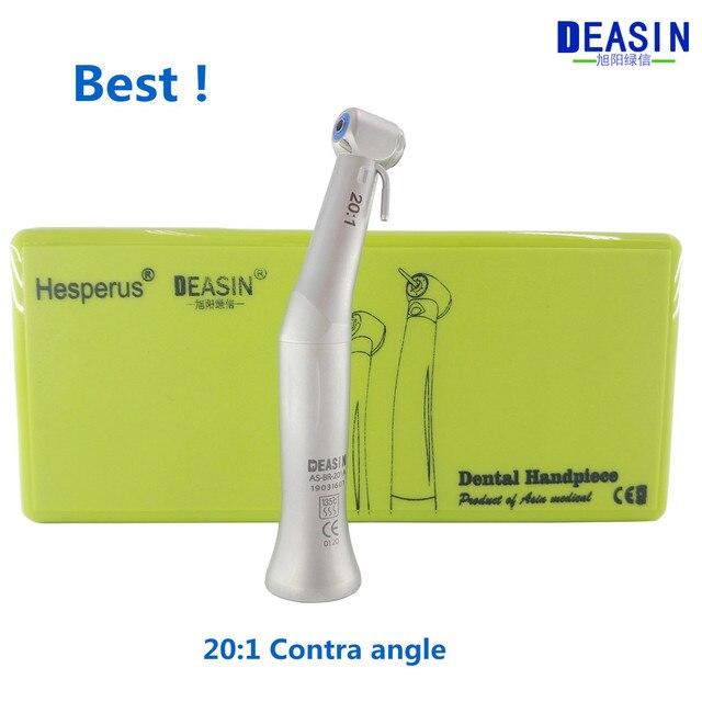 Лучший Deasin 20:1 Contra Angle Slow Speed наконечник для стоматологического имплантата микромотор Польский Инструмент Бесплатная доставка