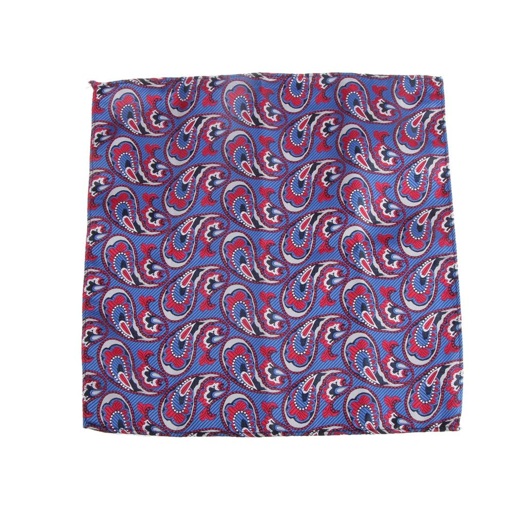 Men Peiris Pattern Pocket Square Hankie Hanky Handkerchief