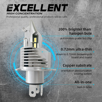 ECAHAYAKU H4 Led Bulbs Car/motorcycle Headlight 72W 12V 24V 6000K Super Led H4 Car headlight Bulbs lampada Led H4 8000LM