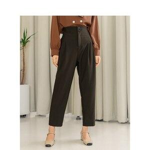 Image 1 - INMAN 2020ใหม่วรรณกรรมRetroสไตล์สูงเอวหลวมแครอทสไตล์ผู้หญิงสวมใส่ผู้หญิงCausalกางเกง