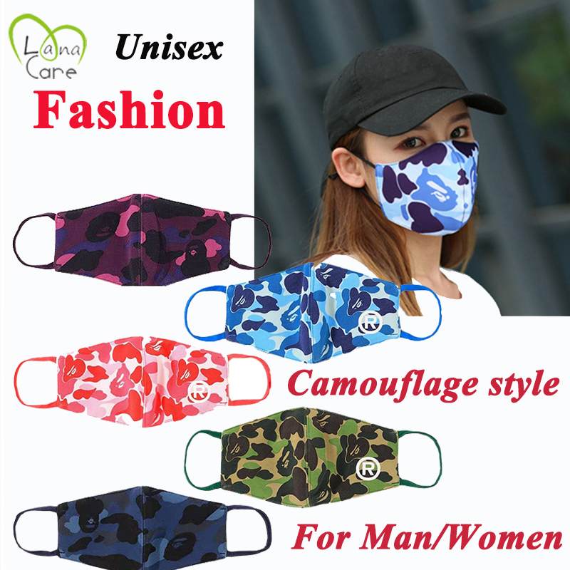 New Style Fashion Face Mask Cotton Unisex Camouflage Mouth Face Mask Face Masks For Man/Women 5 Style