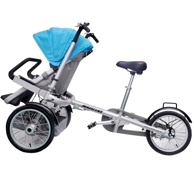 aluminium frame shimano 3 speed mother baby tricycle no taga stroller bike tourism