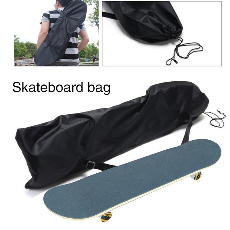 Thicken Carrying Storage Bag Backpack For Skateboard Kick Skate Scooter Black