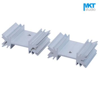 10Pcs White 25x34x12mm Pure Aluminum Cooling Fin Radiator Heat Sink For Audio, TO-3P, MOS, IC, Power, TO-220