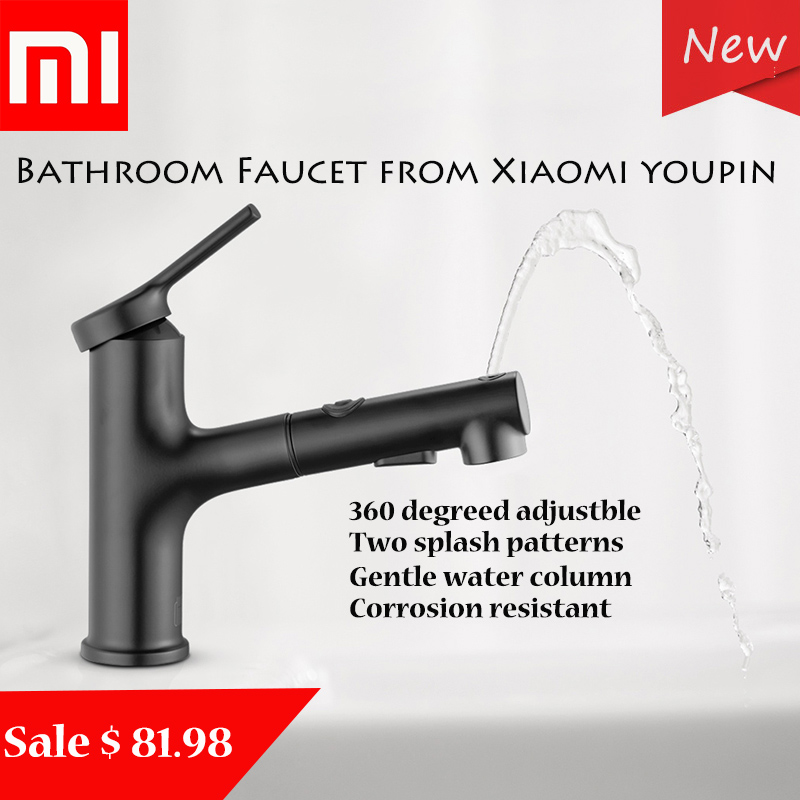 Xiaomi robinets d'évier de salle de bain/robinet de cuisine/robinet de douche de Xiaomi Youpin facile à gargariser