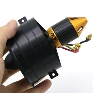 Image 3 - Sistema de ventilación con conductos EDF para avión Jet, Motor sin escobillas, Avión RC EDF, helicóptero RC, 64mm, 70MM, 90MM, 120MM