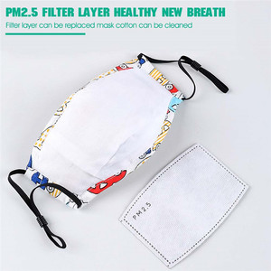 Image 4 - Lovely PM2.5 Washable Mouth Mask With Valve Kids Children Anti Haze Dust Mask Nose Filter Face Muffle Flu Respirator