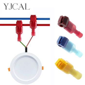 T-Tap Insulated Electrical Scotch Lock Wire Quick Connector Terminal Crimping Non Destructive Without Breaking Line 50pcs crimping type non insulated pipe bare terminal connector for 18awg wire page 3