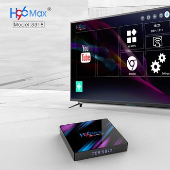1Set H96 Max RK3318 Smart Android 9.0 TV Box 2.4G/5G Quad-Core WiFi Bluetooth Set Top Box Ultra 3D Media Player Devices h96 max rk3318 chip 9 0 4k dual wifi 5g tv box top box google player tanix set wifi youtube quad core set top boxs wifi android