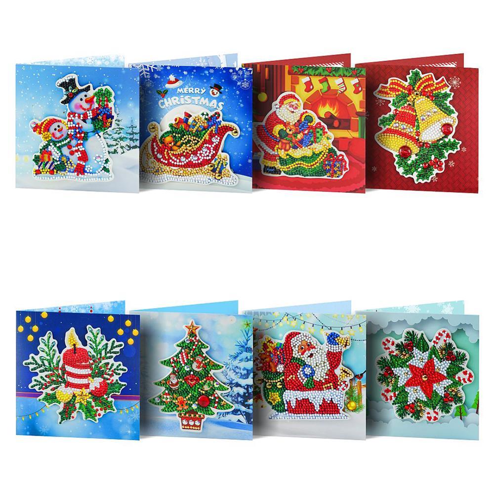 4//6//8pcs 5D DIY Diamond Painting Greeting Card Mosaic Embroidery Birthday Cards