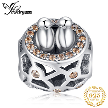 JewelryPalace Love Birds 925 Sterling Silver Beads Charms Original For Bracelet original Jewelry Making