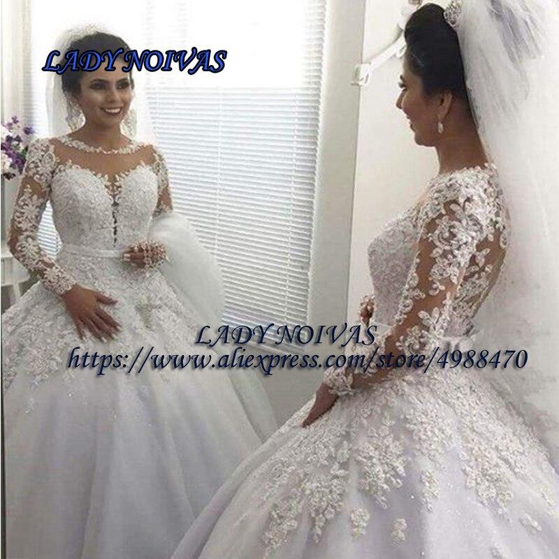 Robe De Mariee Sirene Ball Gown Wedding Dress White Lace Tulle Wedding Gowns For Bride Custom Made Wedding Dresses Vestido Novia