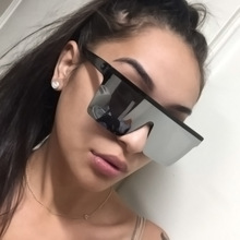 15Color Oversized Sunglasses Men Vintage Brand Driving Sun Glasses Women Flat Top Big Frame Sunglass Retro Siamese Eyewear UV400